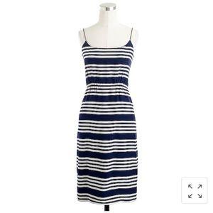 J. CREW blousen dress in stripe